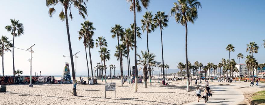 Strand in Los Angeles in Kalifornien in den USA