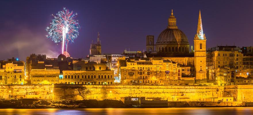 Stadt Feuerwerk