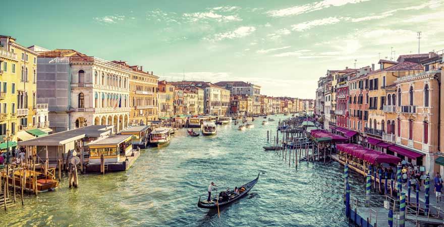 Canale Grande in Venedig in Italien