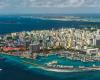 Malé in den Malediven von oben