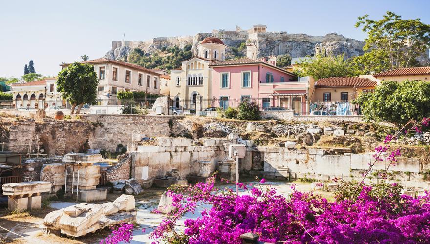 Die Landschaft in Athen