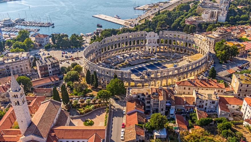 Kroatien, Urlaub, Pula, Amphitheater