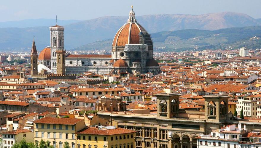 Blick über die italienische Stadt Florenz