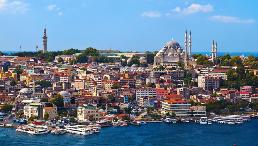 Blick auf die türkische Hauptstadt Istanbul