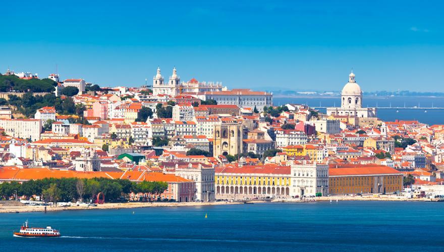 Ausblick auf Portugals Haupstadt Lissabon