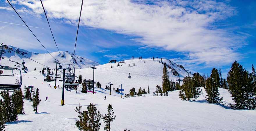 Sierra Nevada Mammouth Mountain in Kalifornien in den USA