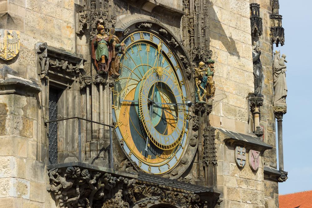Uhr in der Altstadt von Prag