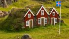 Grassodenhäuser in Island