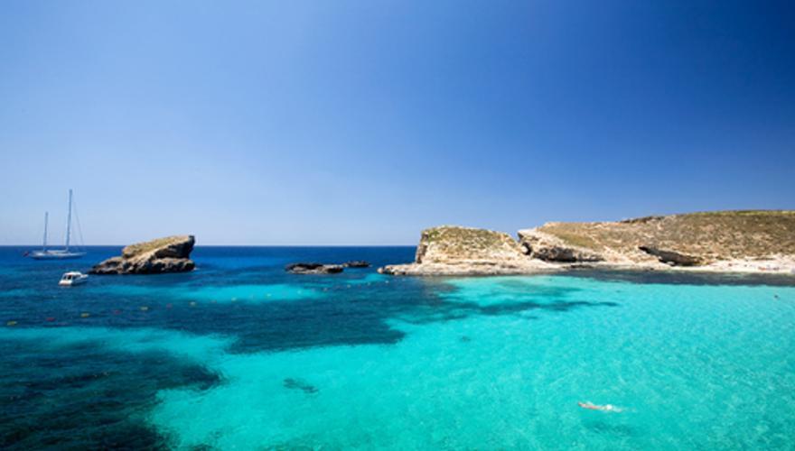Insel, Comino, Malta, Tauchen, Meer