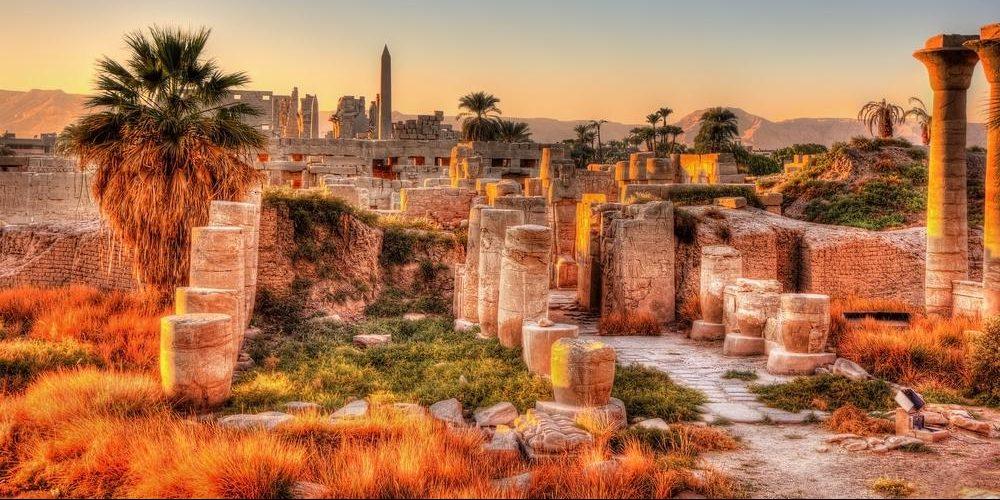 karnak tempel in luxor in aegypten
