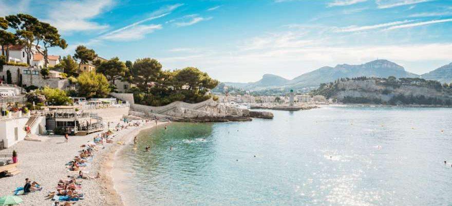 Cassis an der Cote d'Azur in Frankreich