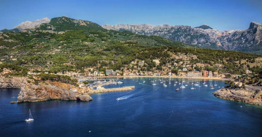Port de Soller auf Mallorca in Spanien