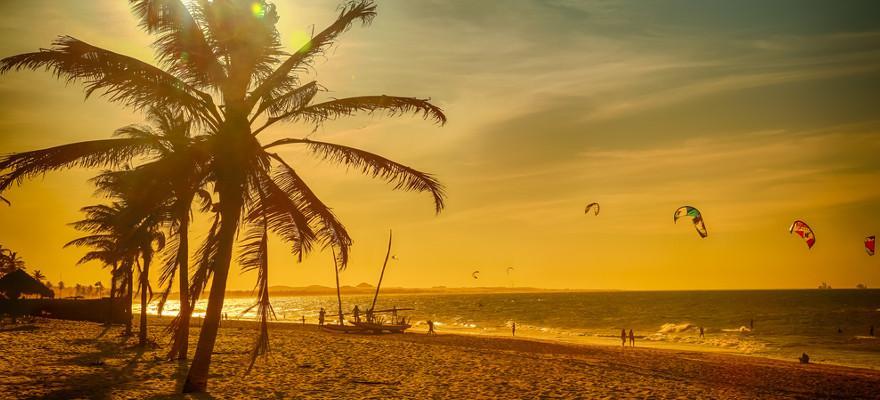Der Strand in Fortaleza in Brasilien