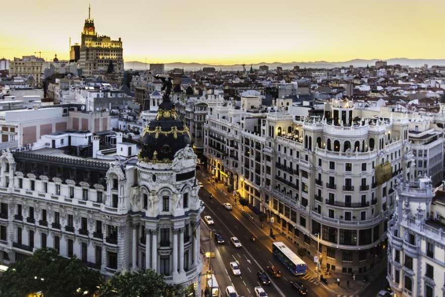Madrid-Sonnenuntergang