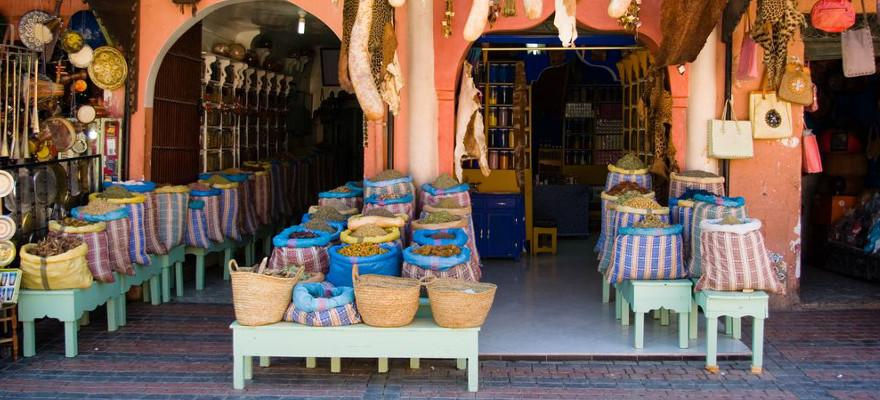 Ein Markt in Marrakesch.