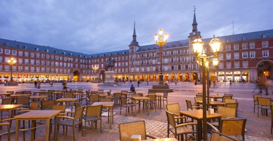 Plaza Mayor in Madrid in Spanien