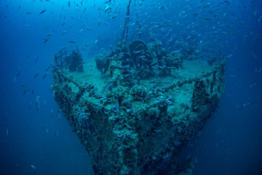 Schiffswrack-Koratien
