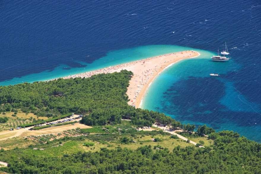Strand von Brac in Kroatien