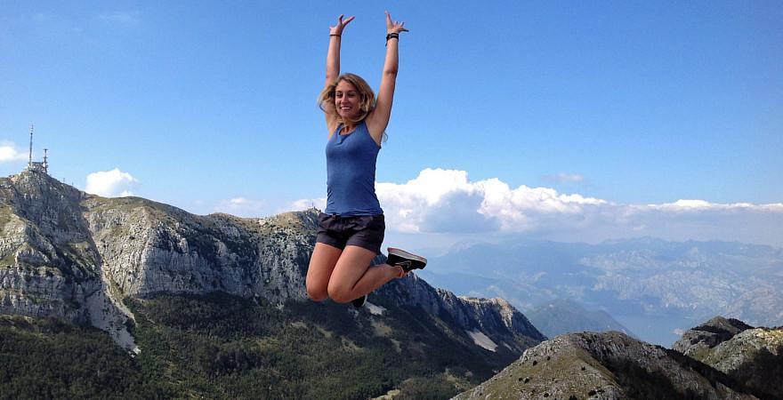 Mädchen in Montenegro.