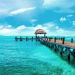 Steg Isla Mujeres in Mexico auf der Yucatan Halbinsel
