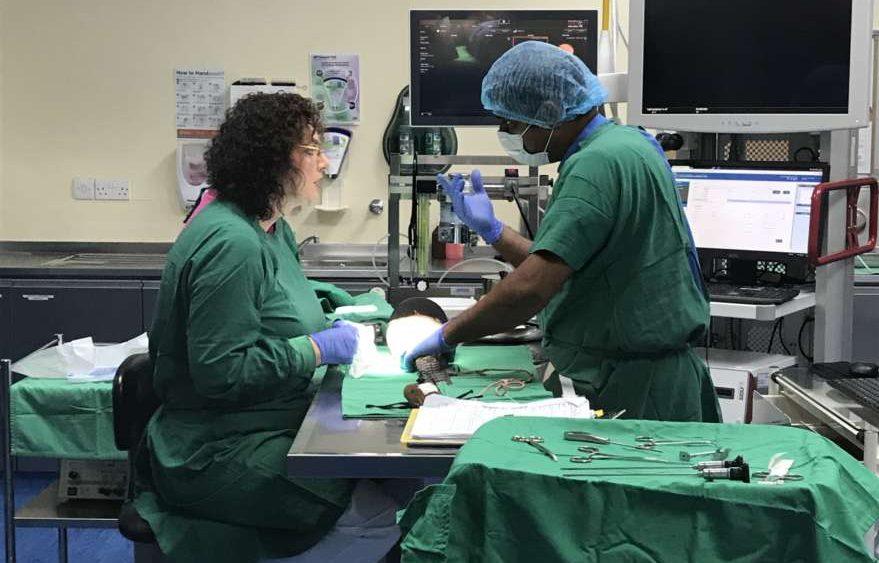 Operation im Falkenhospital in Abu Dhabi