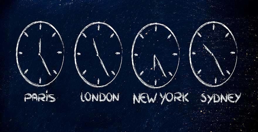 Jetlag durch verschiedene Zeitzonen