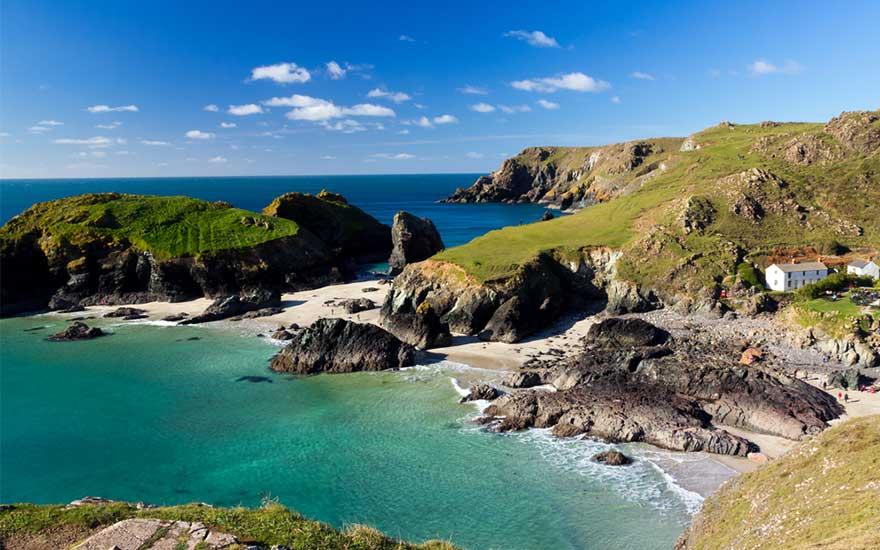 Kueste in Cornwall, England