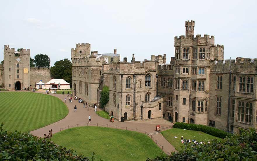 Warwick Castle in Mittelengland