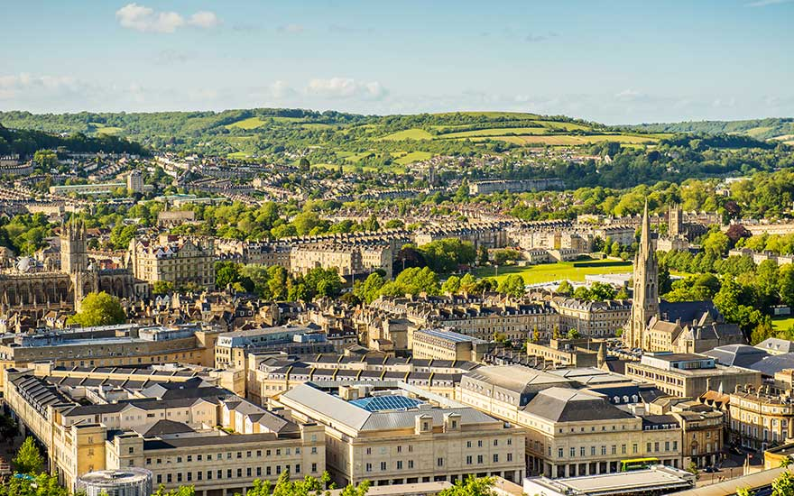 Bath in England