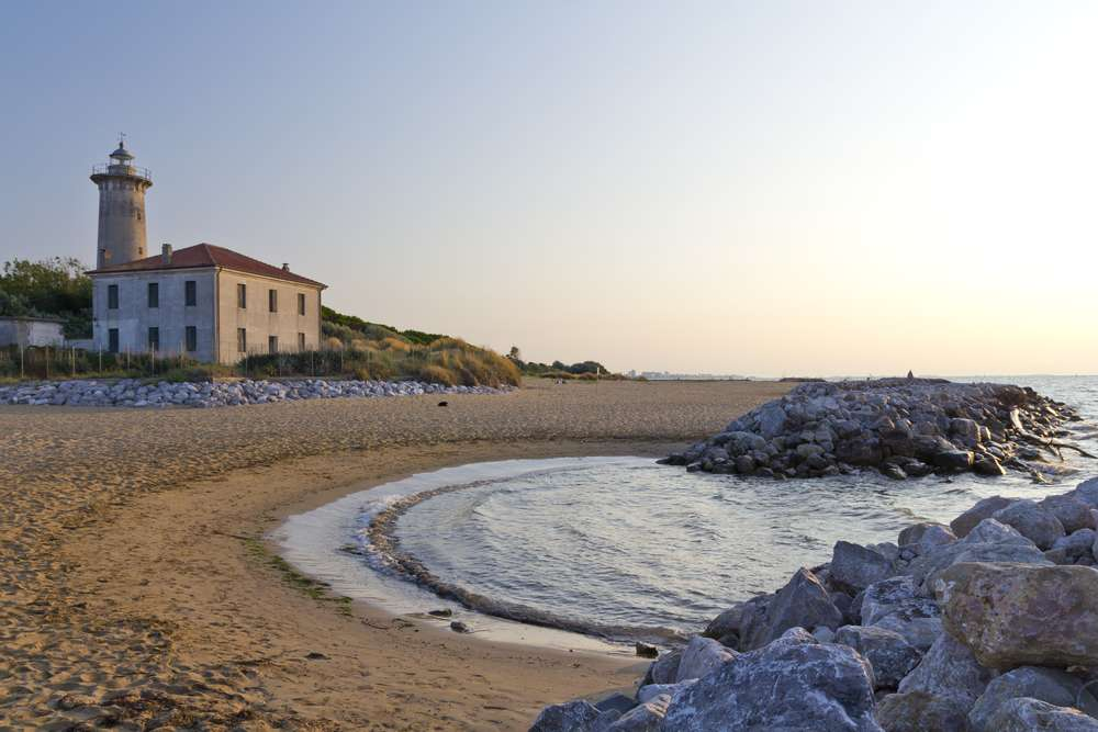 Bibione Strand an der Adria Kueste