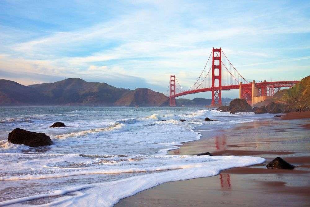 Golden Gate Bridge und die Küste San Franciscos