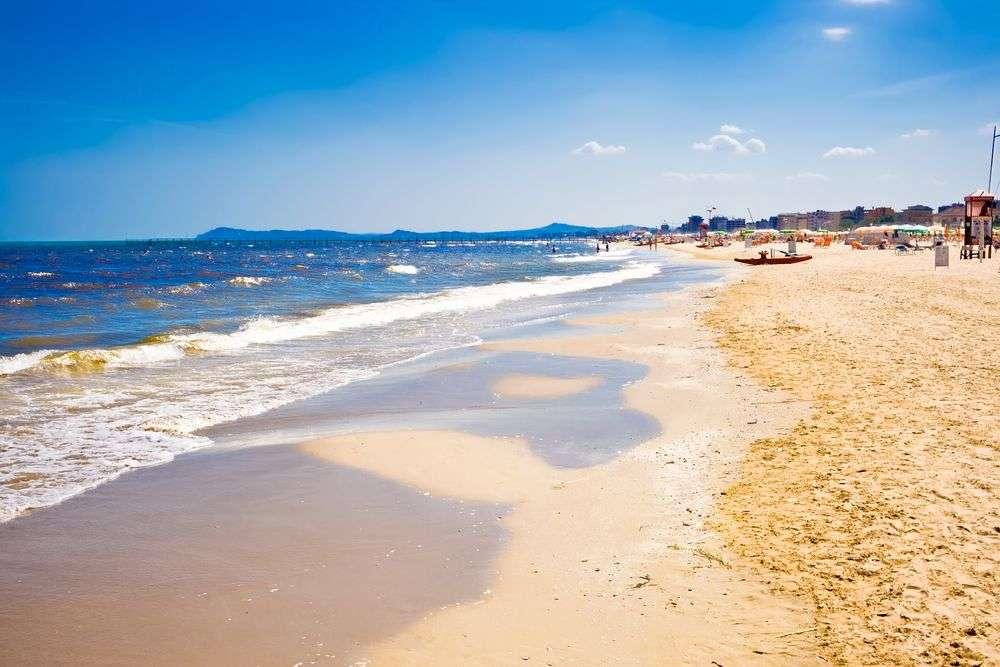 Caorle Strand an der italienischen Adria