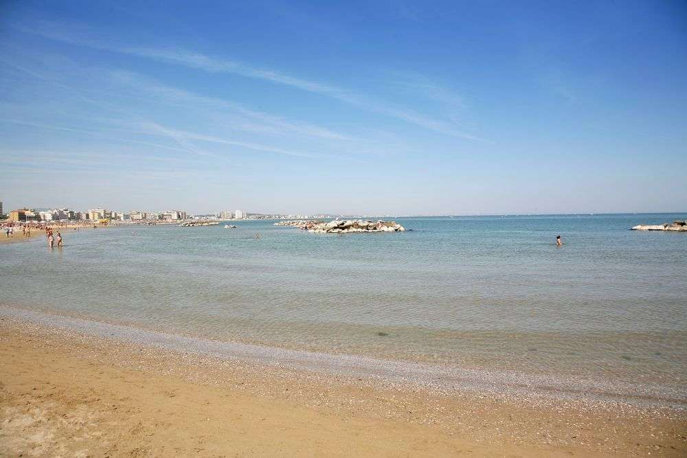 Cattolica Strand an der Adria Kueste