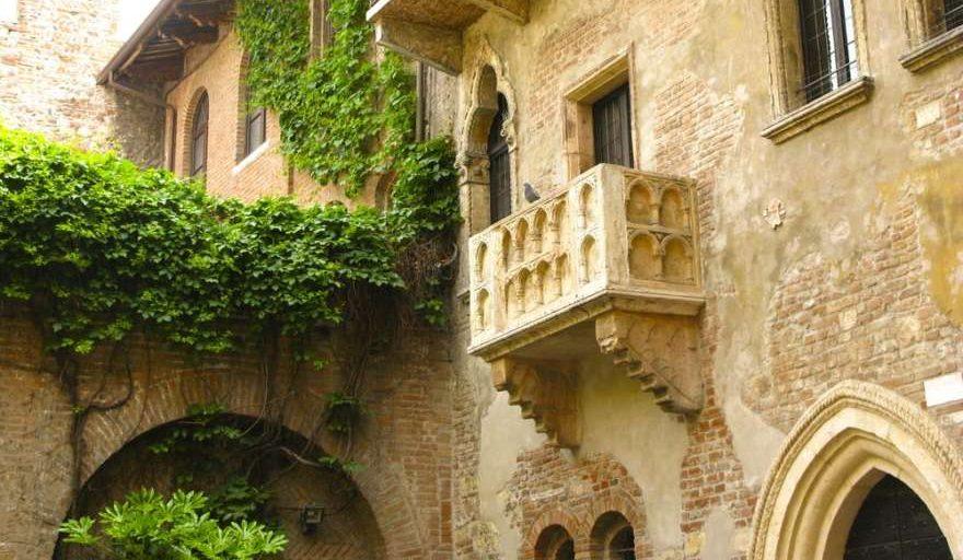 Julias Balkon in Verona in Italien