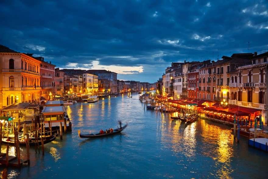 Canal Grande bei Nacht Venedig