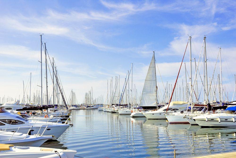 Hafen von Pesaro an der italienischen Adria