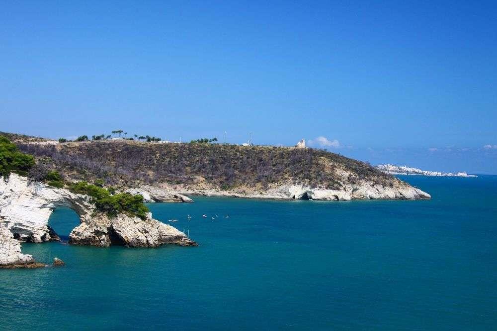 Vieste Strand an der Adria-Kueste