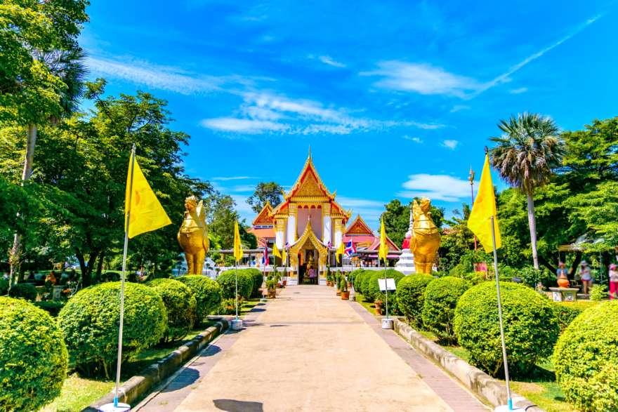 Wat Thai am Wat Pai Lom auf Koh Kret Thailand