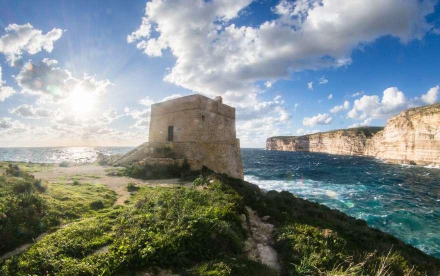 Xlendi Tower auf Gozo