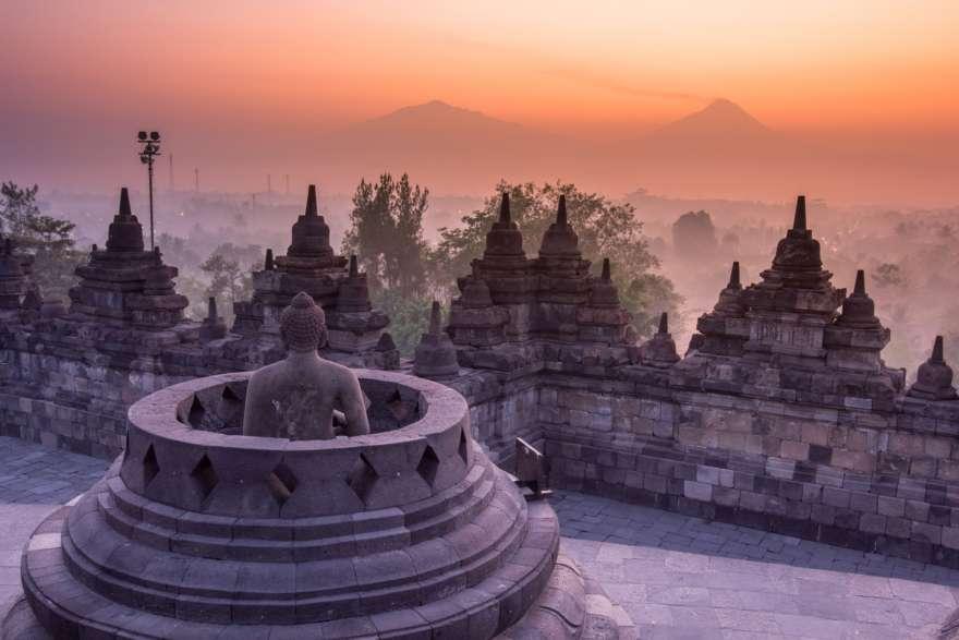 Borobodur Tempel auf Yogyakarta