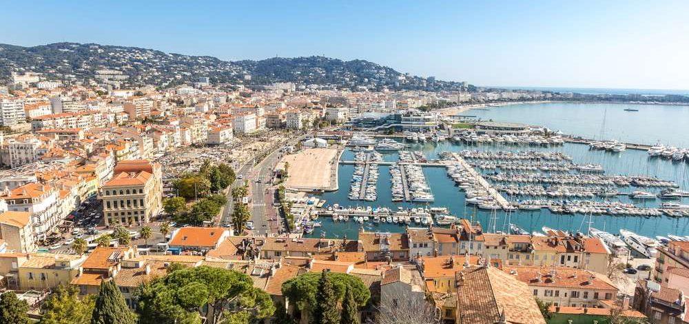 Blick auf Cannes an der Cote d'Azur in Frankreich