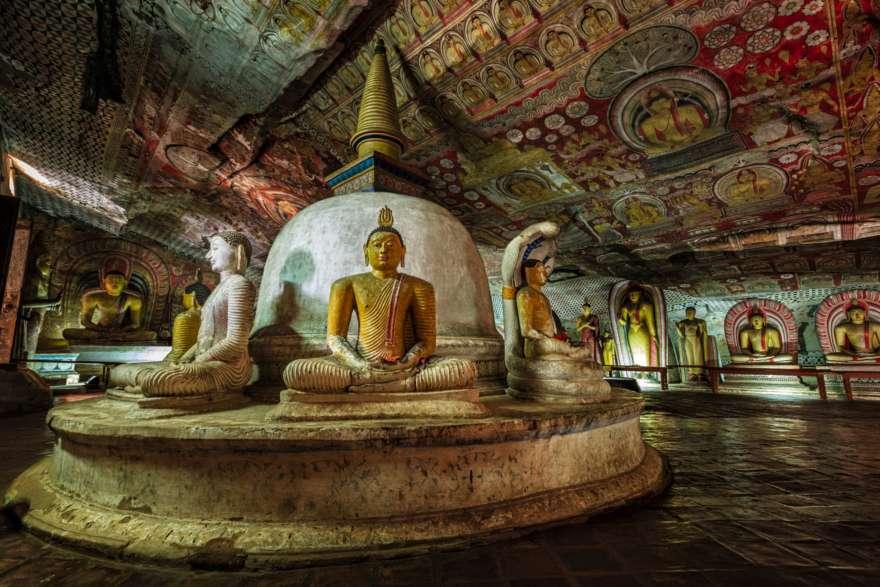 Dambulla Höhle auf Sri Lanka
