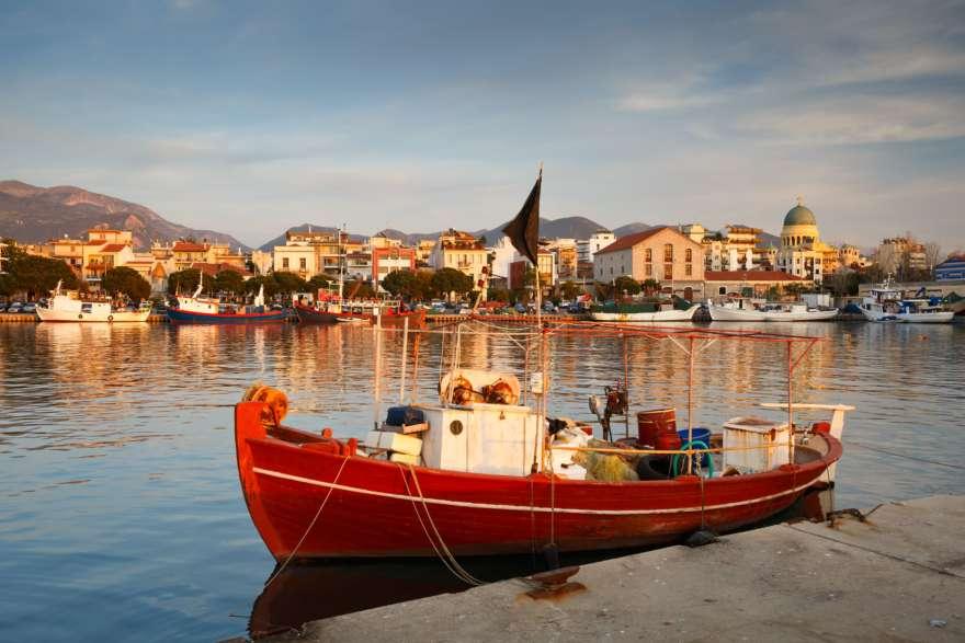 Hafen von Patras in Griechenland