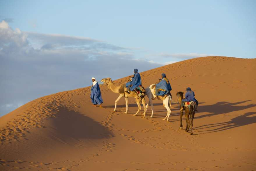 Kamelkarawane in Tunesien
