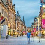 Glasgow Shoppingstraße in Schottland