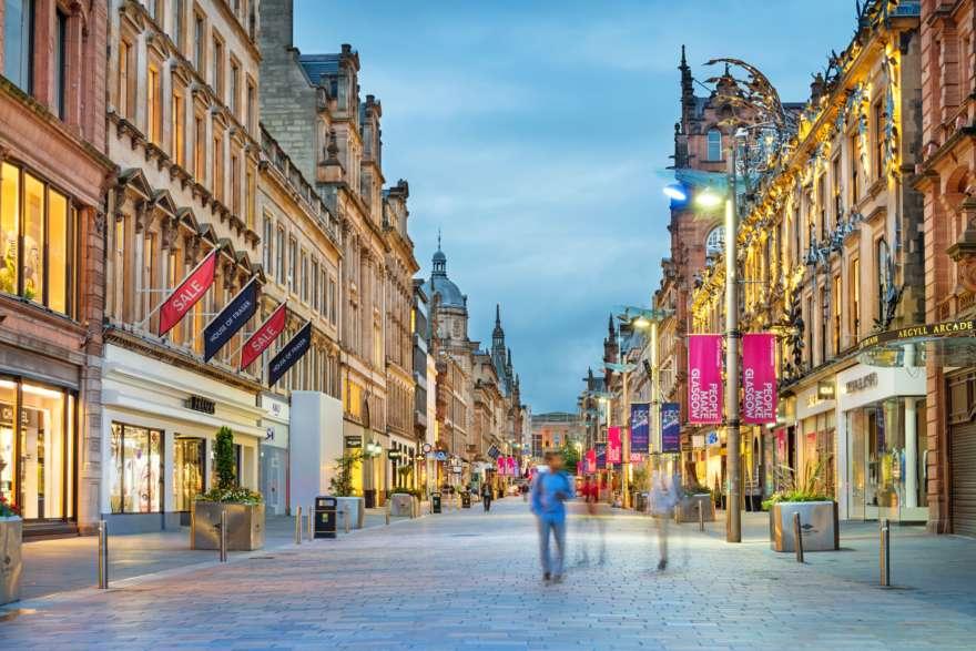 Schottland Glasgow Shopping