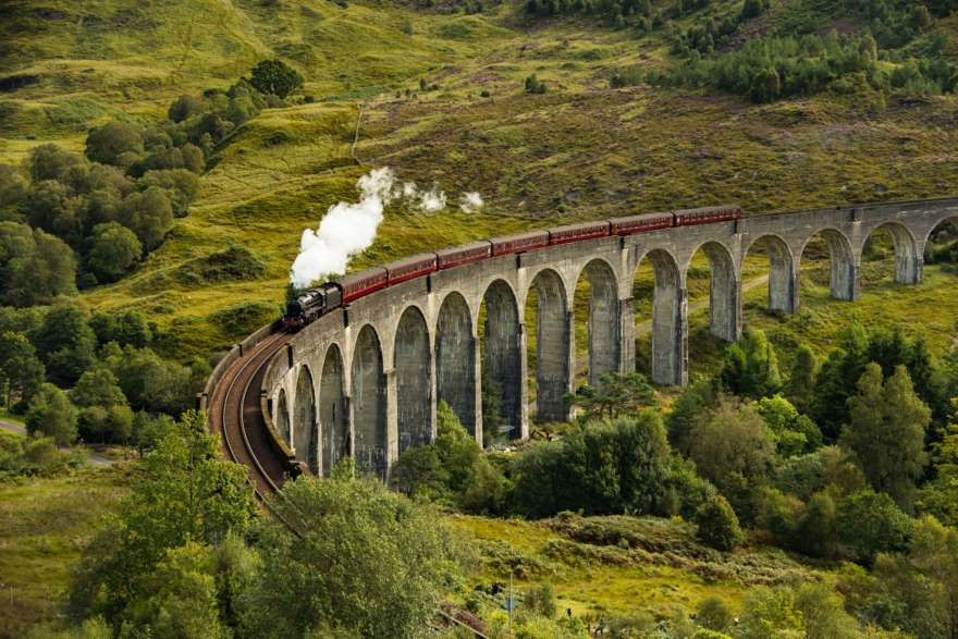 Schottland Westhighlands Glennfinnan Viadukt
