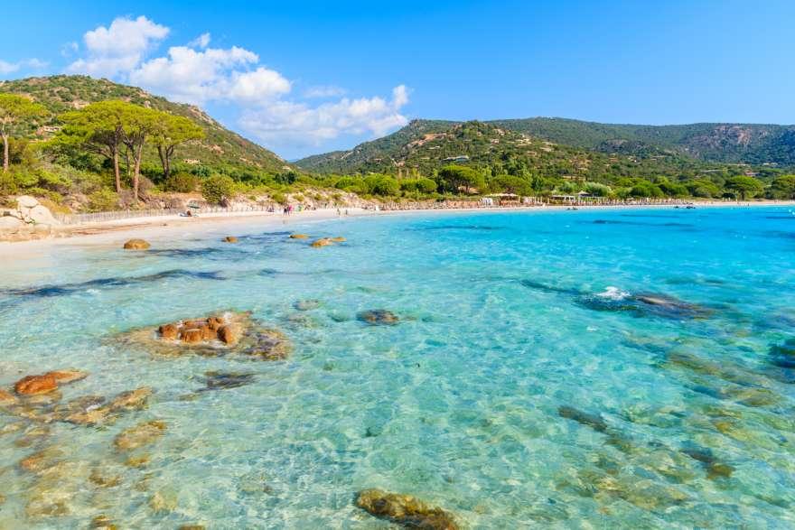 Strand von Korsika in Griechenland