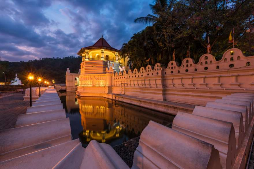 Zahntempel in Kandy in Sri Lanka