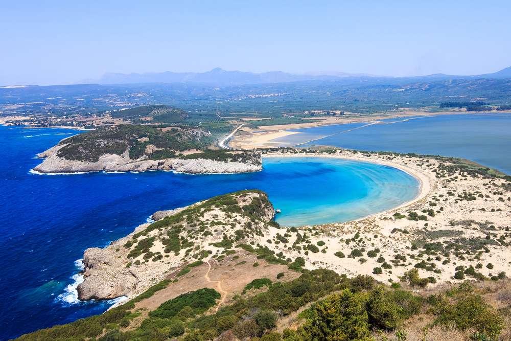 Voidokilia Strand in Griechenland